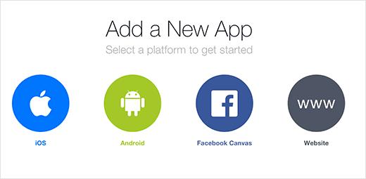 Seleccione la plataforma de su aplicación