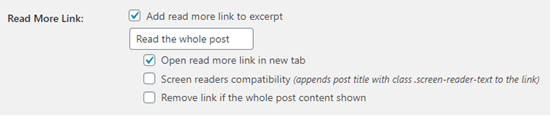 Restaurar y personalizar el enlace 'Leer más' utilizando el complemento Advanced Excerpt