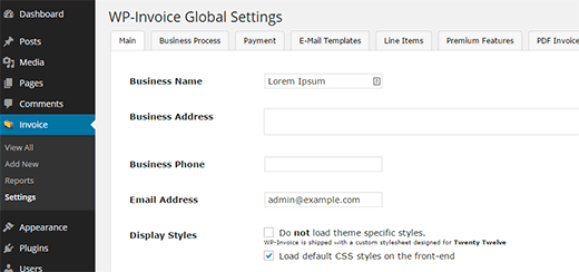 Opciones avanzadas para su sistema de facturas de WordPress
