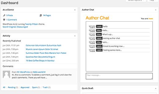 Crear widget de chat en el panel de WordPress