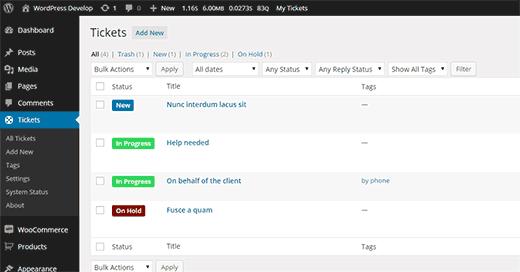 Complemento de soporte impresionante para WordPress