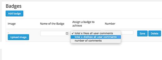 Agregar insignias para los comentarios de WordPress