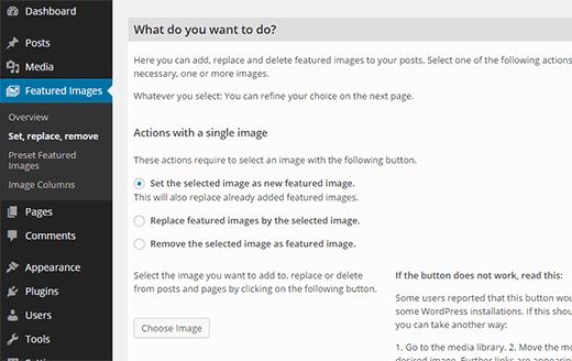 Edición masiva de imágenes destacadas en WordPress