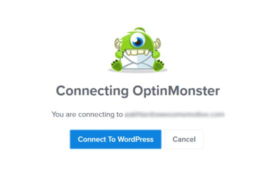 Haga clic en el botón Conectar a WordPress
