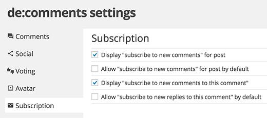 Permitir que los usuarios se suscriban a comentarios en WordPress