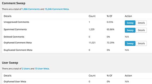 Limpiar sus metadatos de comentarios y metadatos de usuario