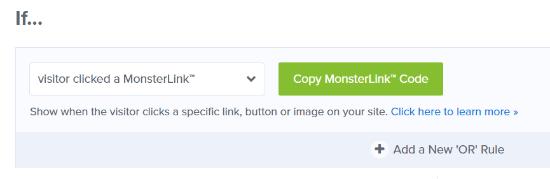 Copia tu código MonsterLink
