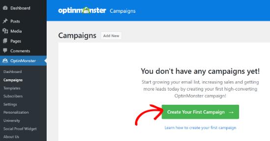 Crea una nueva campaña