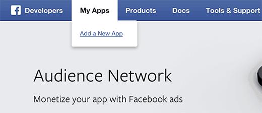 Creando un nuevo Facebook aplicación