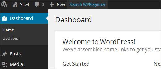 Agregar un enlace de acceso directo personalizado en la barra de herramientas de WordPress