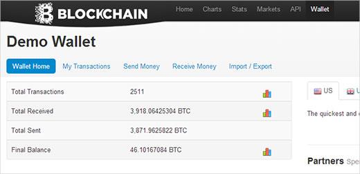 Blockchain.info una billetera Bitcoin basada en la web