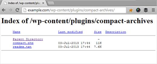 Un ejemplo de navegación por índice de directorio en WordPress