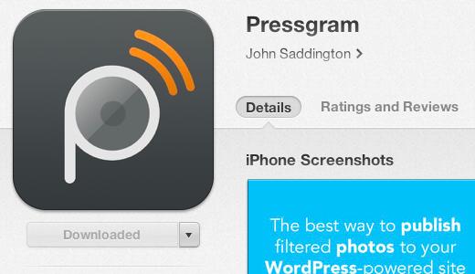 Instalación de la aplicación Pressgram
