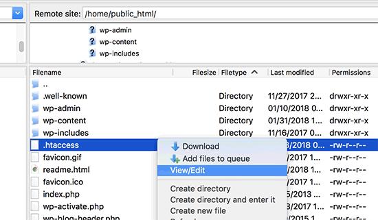 Editando archivo .htaccess en WordPress