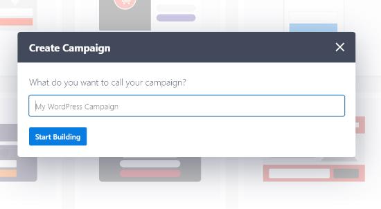Ingrese un nombre para su campaña
