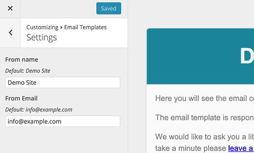 Configuración general para su plantilla de correo electrónico