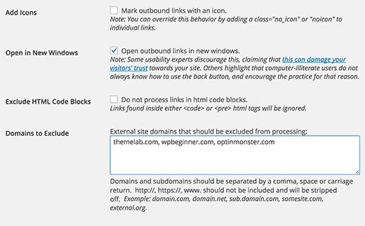 Opciones avanzadas para enlaces externos en WordPress