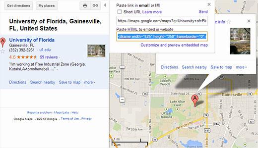 Incrustar manualmente un mapa de Google en WordPress