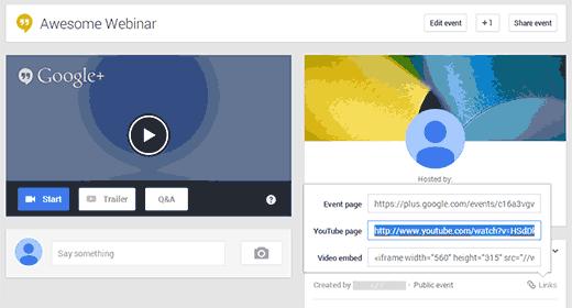 Conseguir que la URL de YouTube de tu Hangout de Google+ se inserte en WordPress