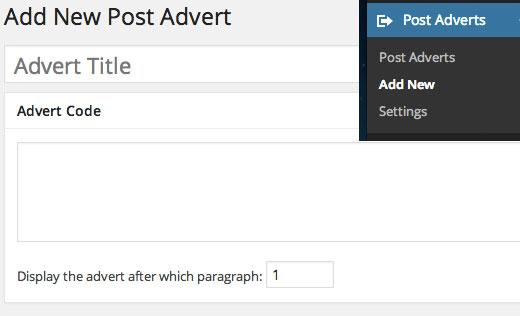Insertar anuncios de publicación
