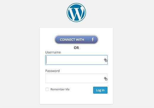 Inicia con Facebook botón en WordPress