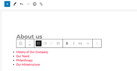 Agregar manualmente enlaces a páginas secundarias