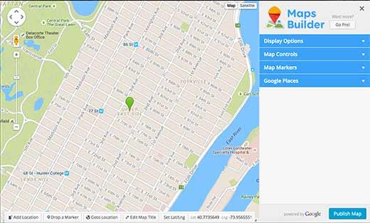 Maps Builder - Complemento de Google Maps