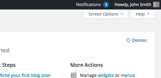 Nuevas notificaciones indicadas por un número en el menú de notificaciones