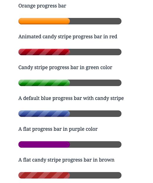 Usar colores y cambiar la apariencia de la barra de progreso
