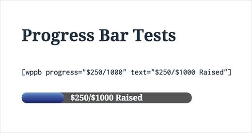 Mostrando una barra de progreso con moneda