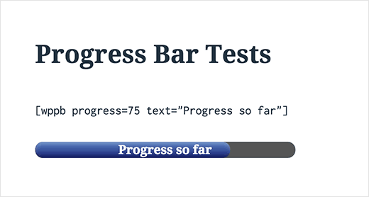 Barra de progreso en WordPress con texto encima