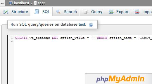 Consulta SQL phpMyAdmin
