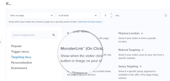 Seleccione la orientación de MonsterLink