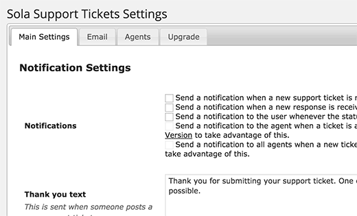 Tickets de soporte de Sola