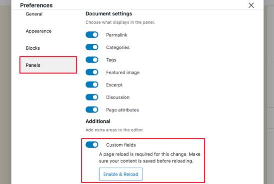 Mostrar campos personalizados en el editor de bloques