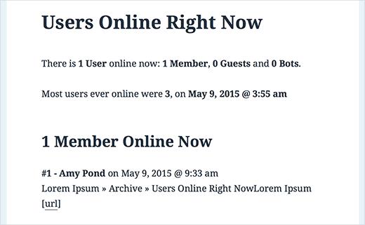Usuarios en línea ahora mismo en un sitio de WordPress