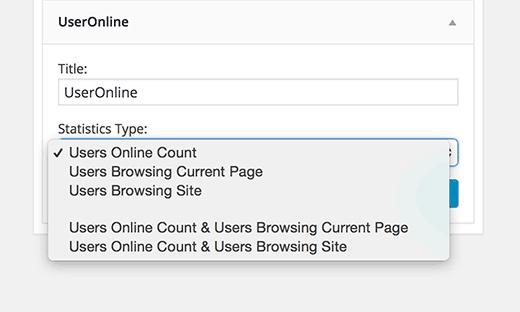 Widget de usuarios en línea