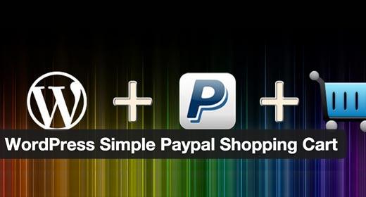 Carrito de la compra de PayPal simple de WordPress