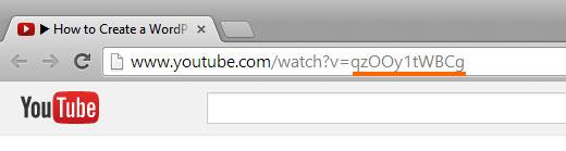 Encontrar la identificación de video de YouTube