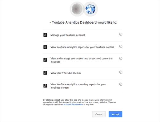 Dar permiso a YouTube Analytics para acceder a los datos de su cuenta